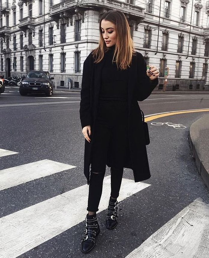 How To Wear Black Leather Multi Buckle Ankle Boots With All