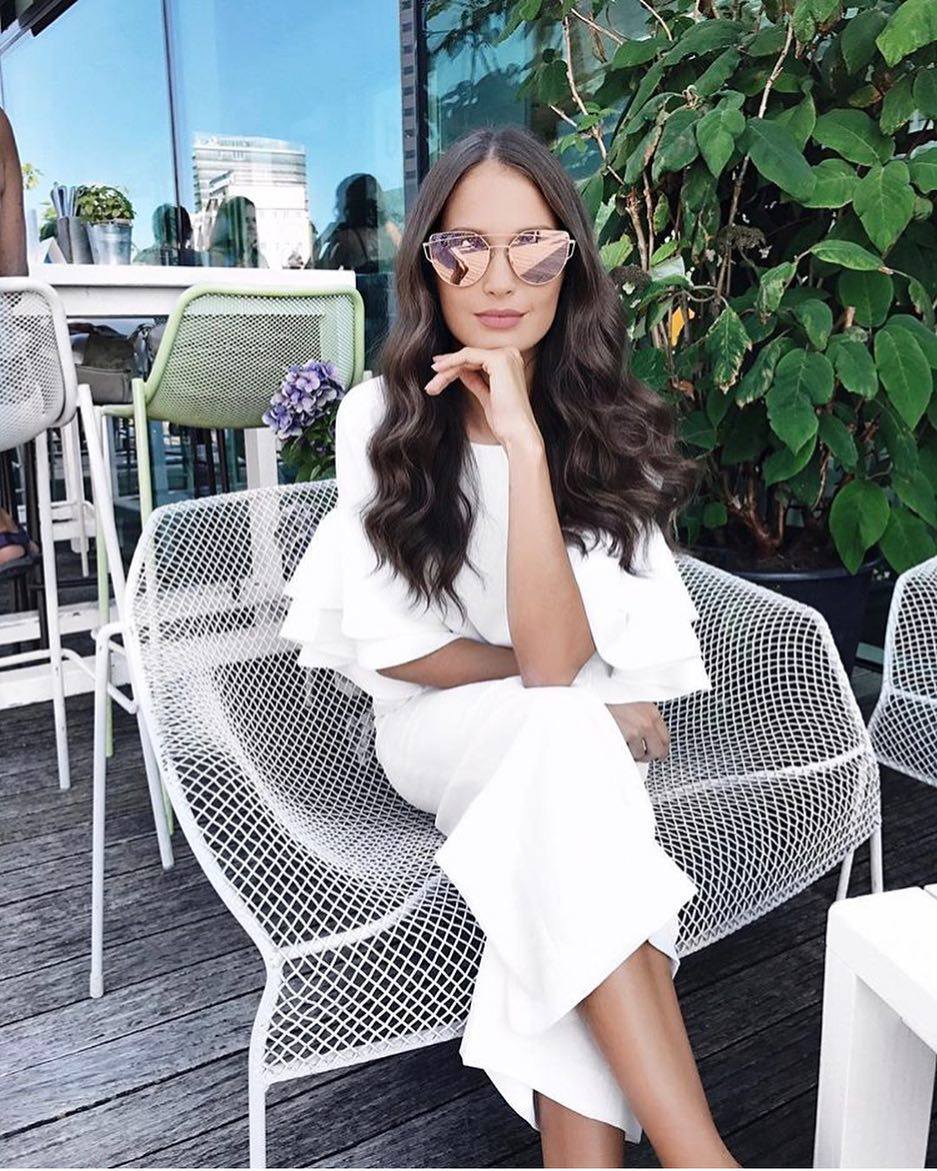 How To Style White Pencil Dress With Short Ruffled Sleeves This Summer 2020