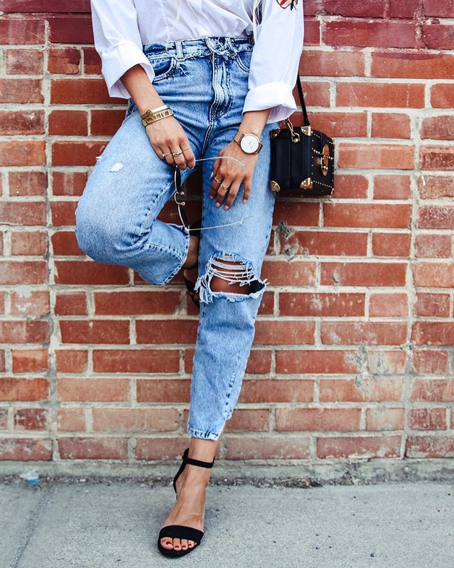 Your Best Denim For Summer: High Waisted Ripped Mom Jeans 2019