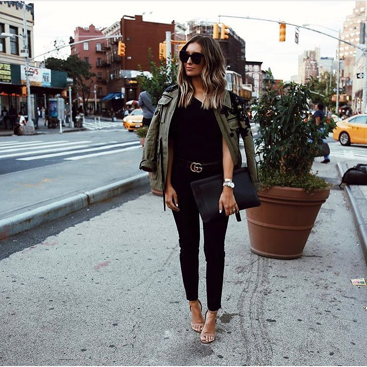 How To Wear Army Green Cargo Jacket With All Black Outfit 2020