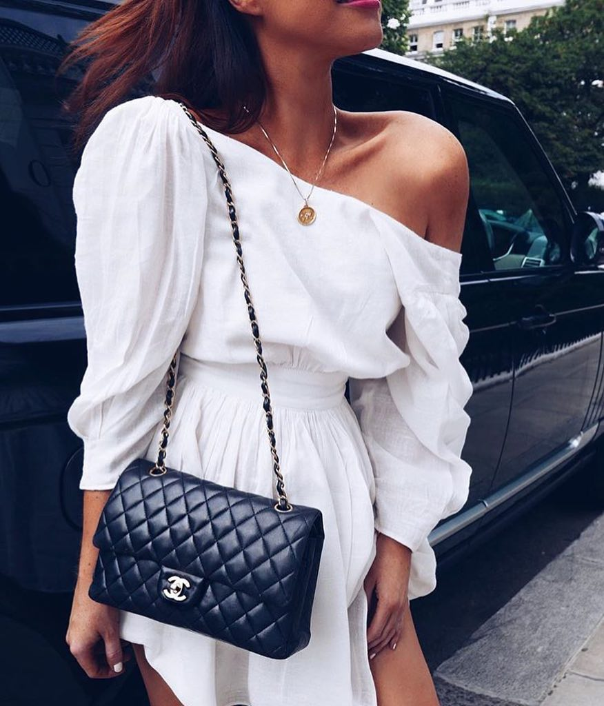 Drop Shoulder White Boho Dress For Summer 2019