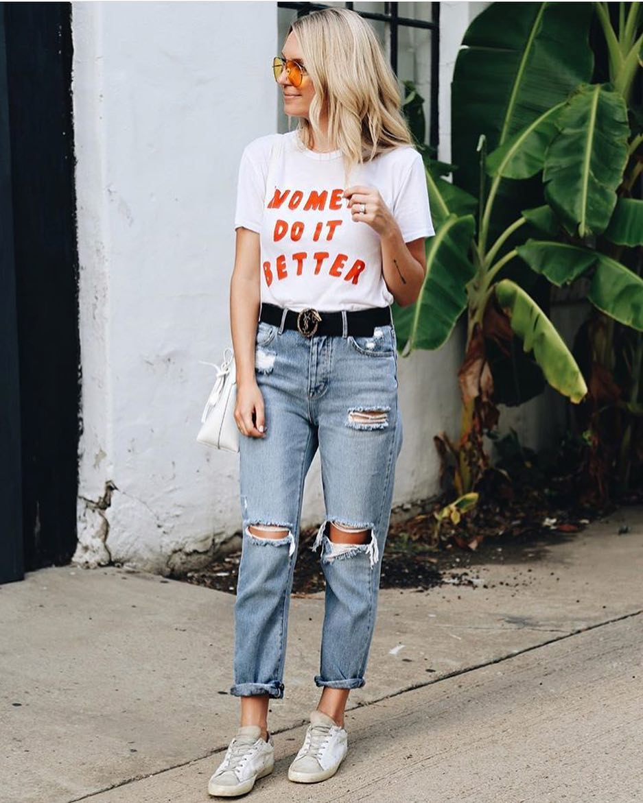 How To Wear Ripped Mom Jeans This Summer 2020