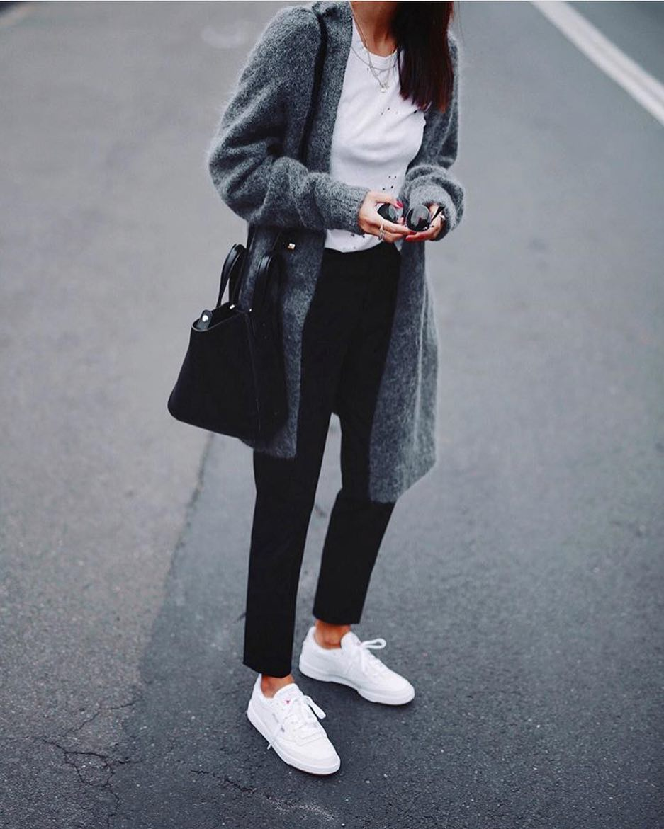 How To Wear Long Wool Cardigan In Grey This Spring 2020