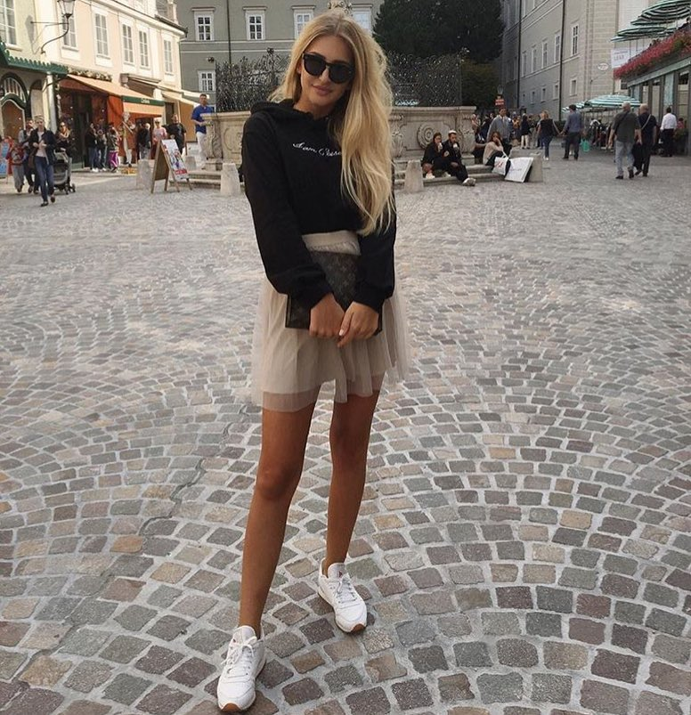 How To Wear Hoodie With Tulle Skirt This Summer 2021