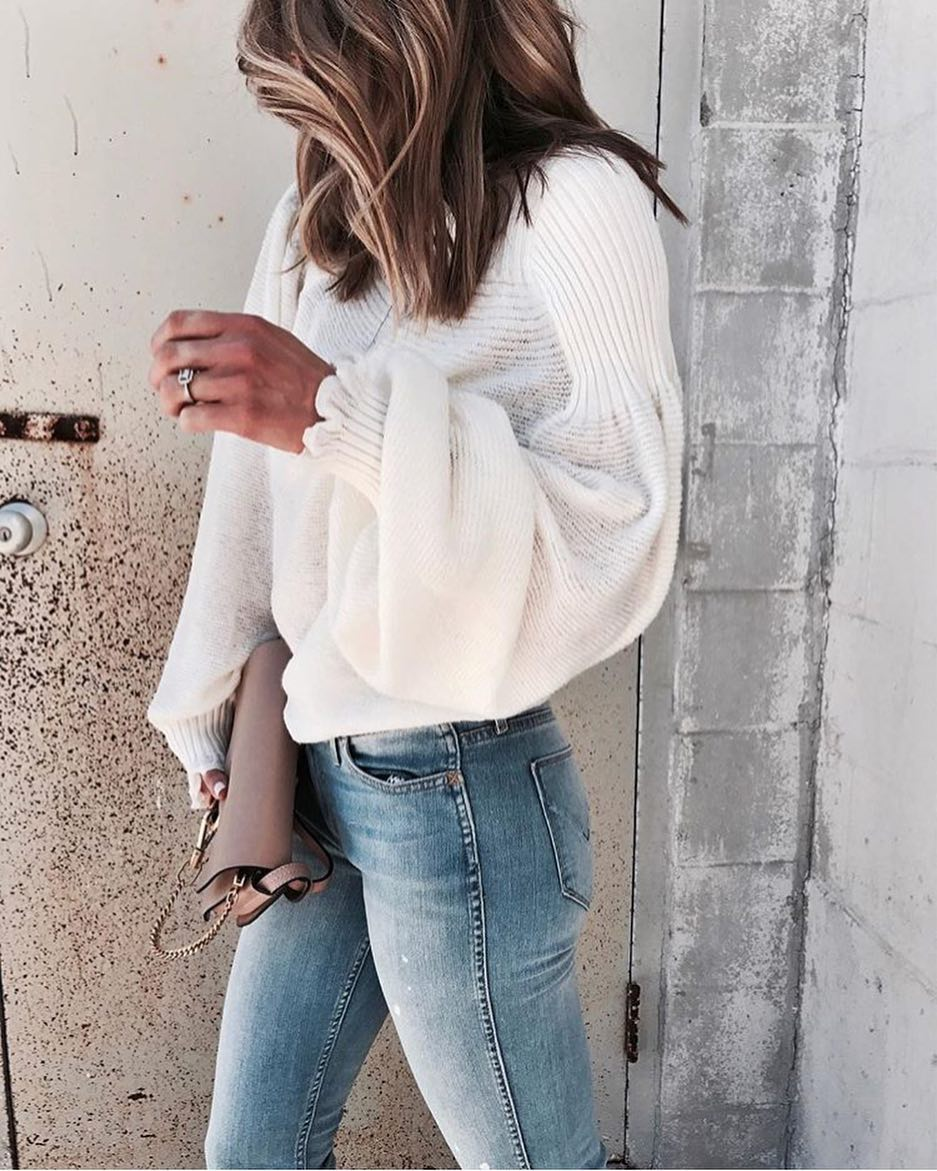 How To Wear White Sweater With Bell Sleeves This Spring 2020