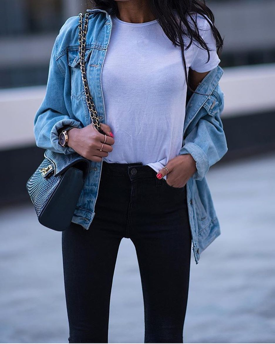 How To Wear Blue Denim Jacket With Black Jeans This Summer 2020