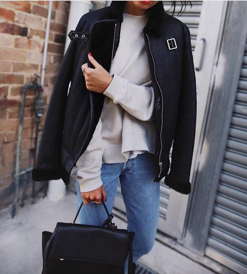 How To Wear Black Aviator Jacket This Spring 2019