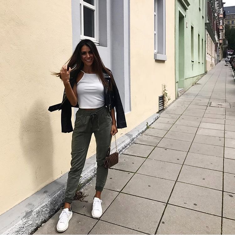 How To Wear Khaki Joggers This Spring 2019
