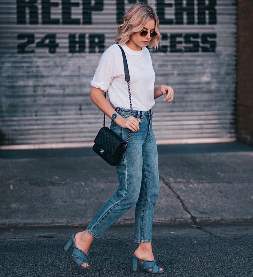 Denim Crisscross Heeled Sandals For Summer 2019