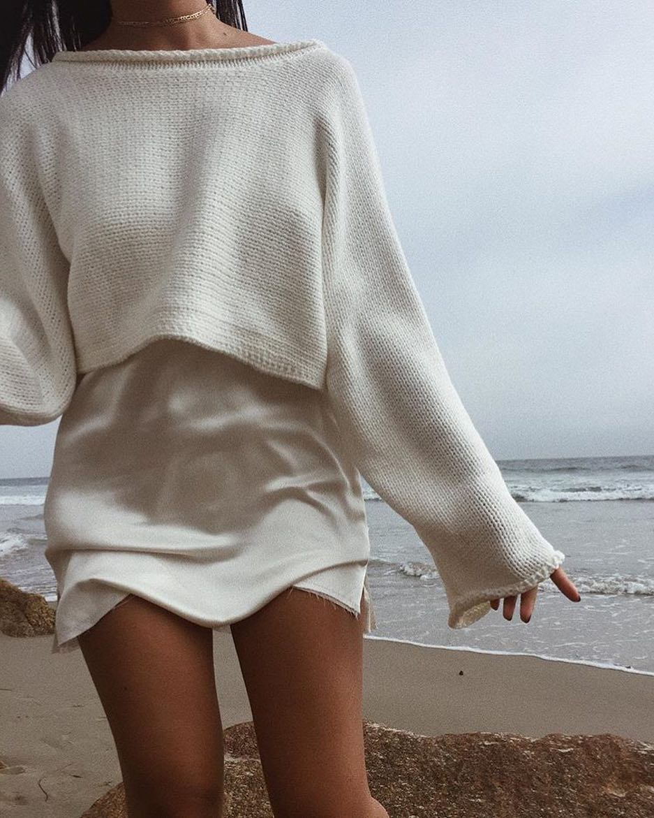 How To Wear White Silken Slipdress At The Beach 2019
