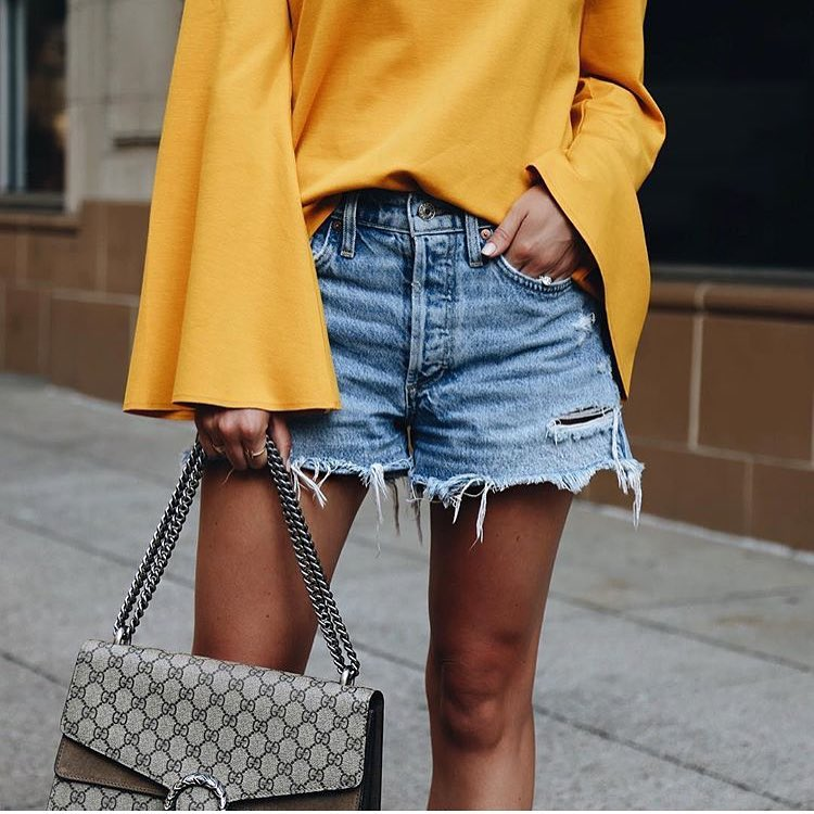 How To Wear Bell Sleeve Top In Mustard With Denim 2019