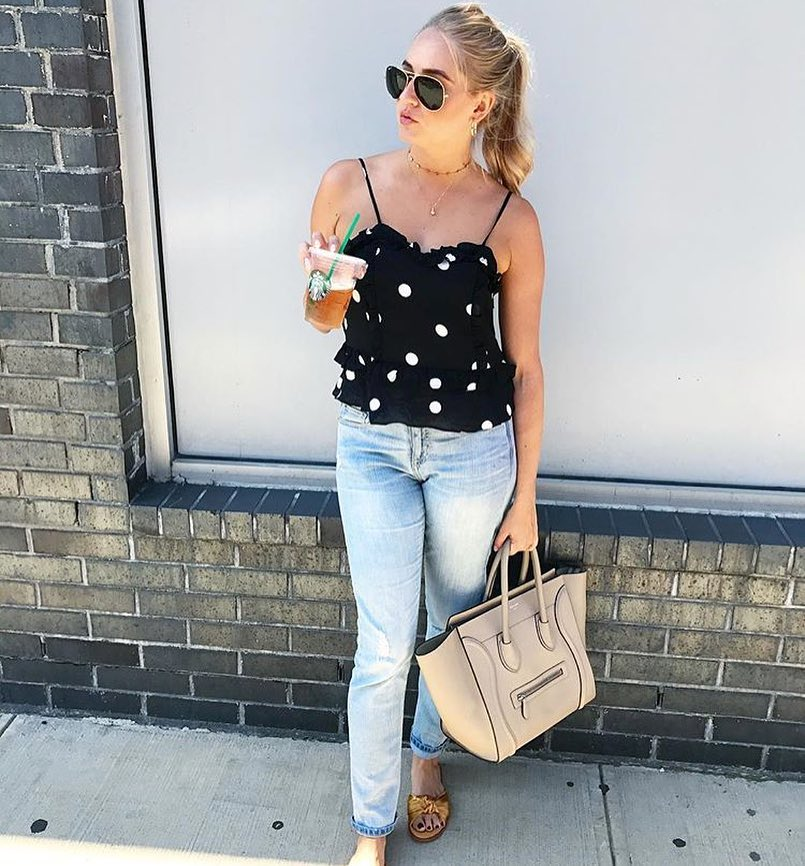 How To Wear Polka Dotted Peplum Top And Jeans This Summer 2019