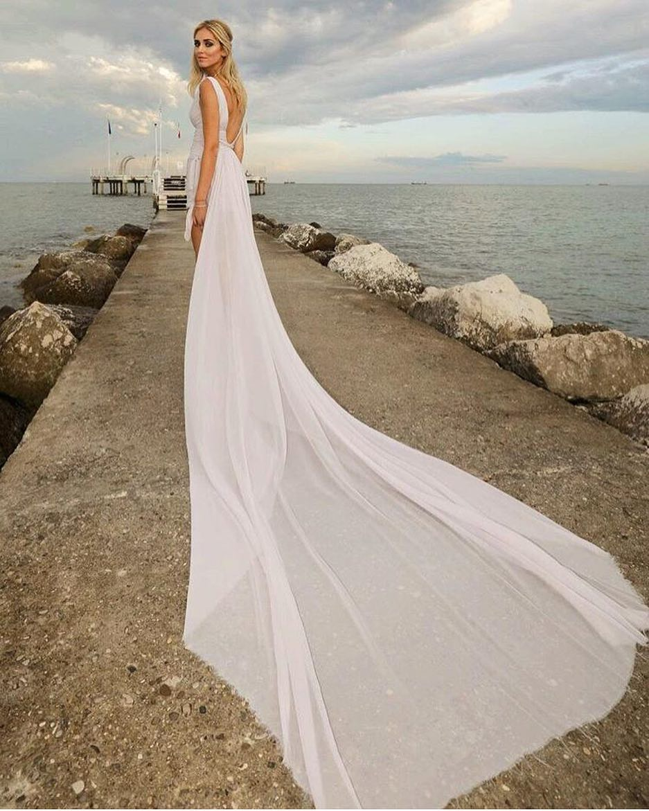 Summer Wedding Dress With Open Back 2020