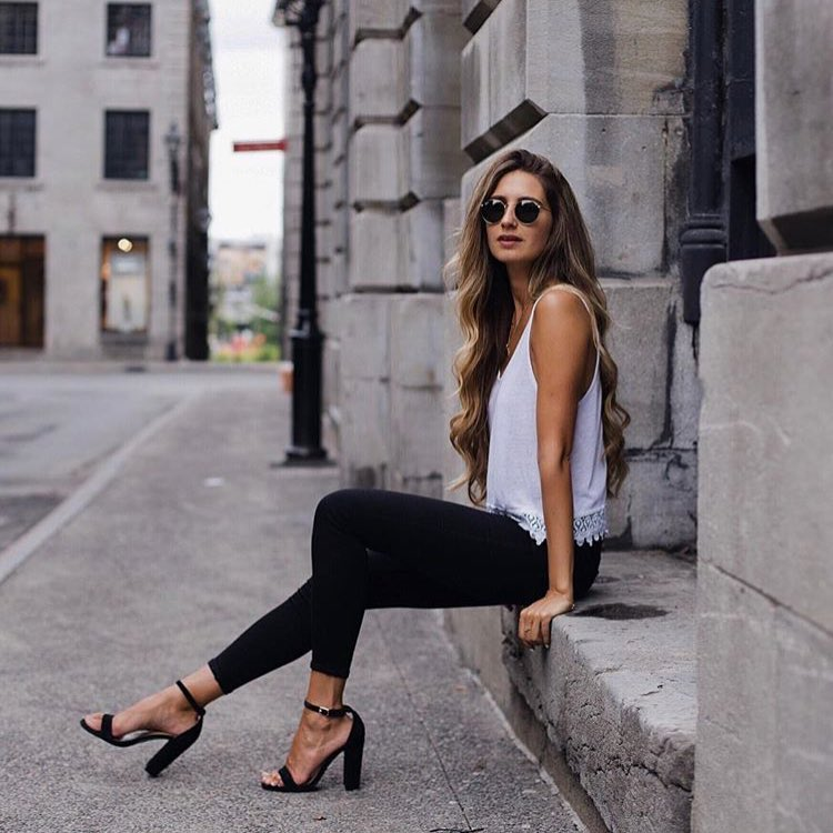 Black And White Outfit For Summer Months 2020