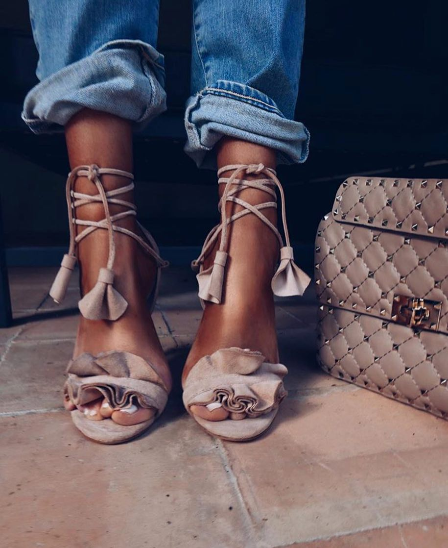 How To Wear Lace-Up Heeled Sandals This Summer 2019