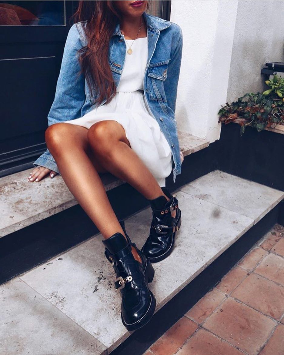 How To Wear Black Cut-Out Boots During Summer 2019