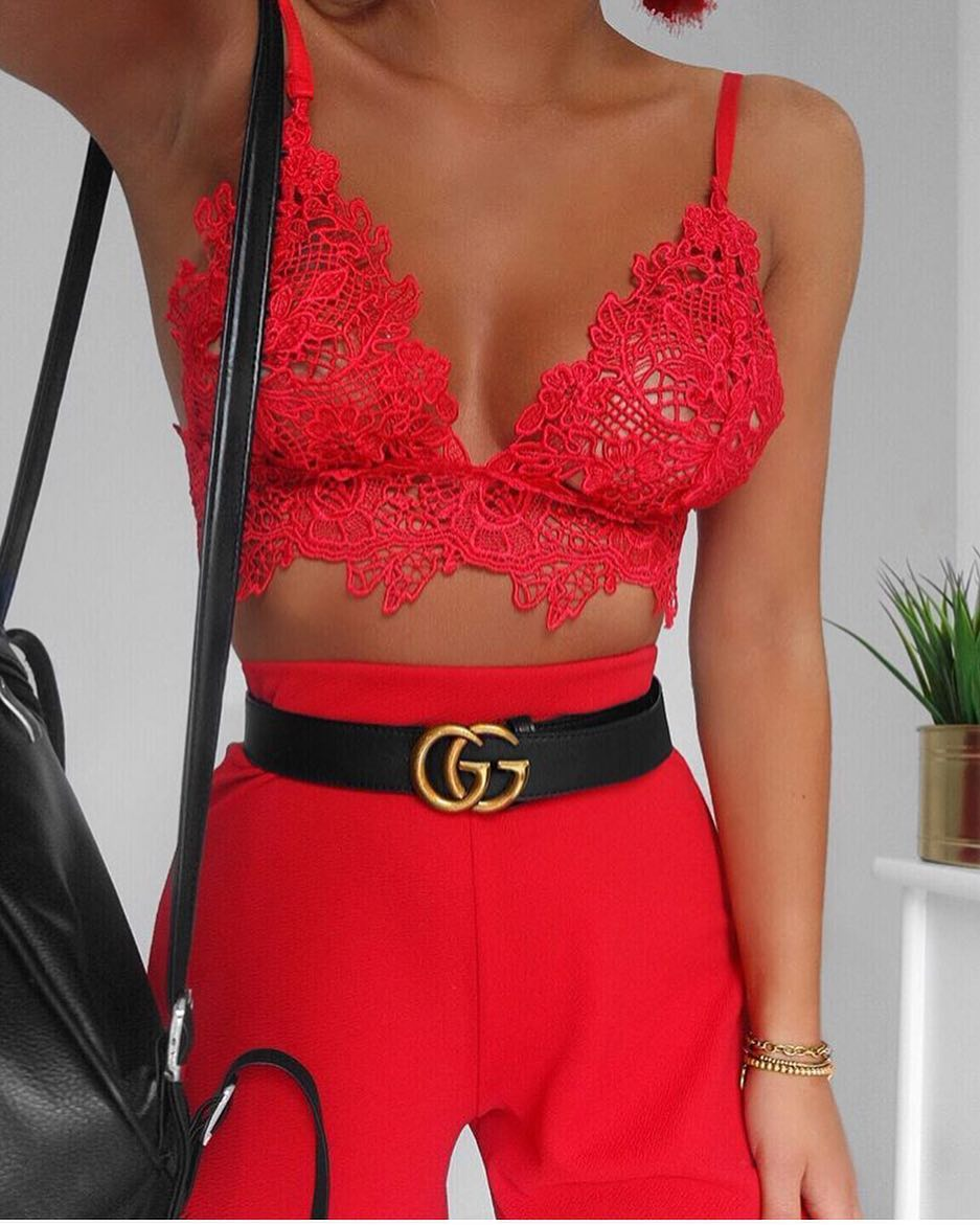 How To Wear Red Lace Bra Top For Summer Cocktail Parties 2021