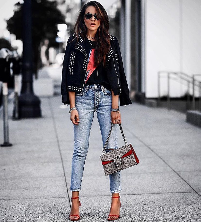 How To Style Studded Biker Jacket This Fall 2019