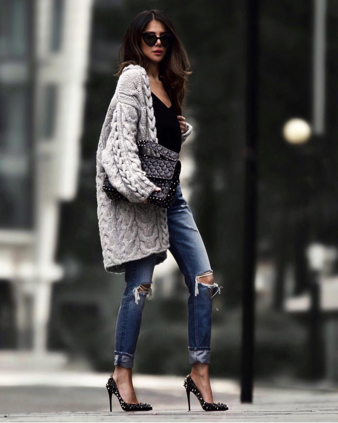 Can I Wear Oversized Cardigan With Heels 2020
