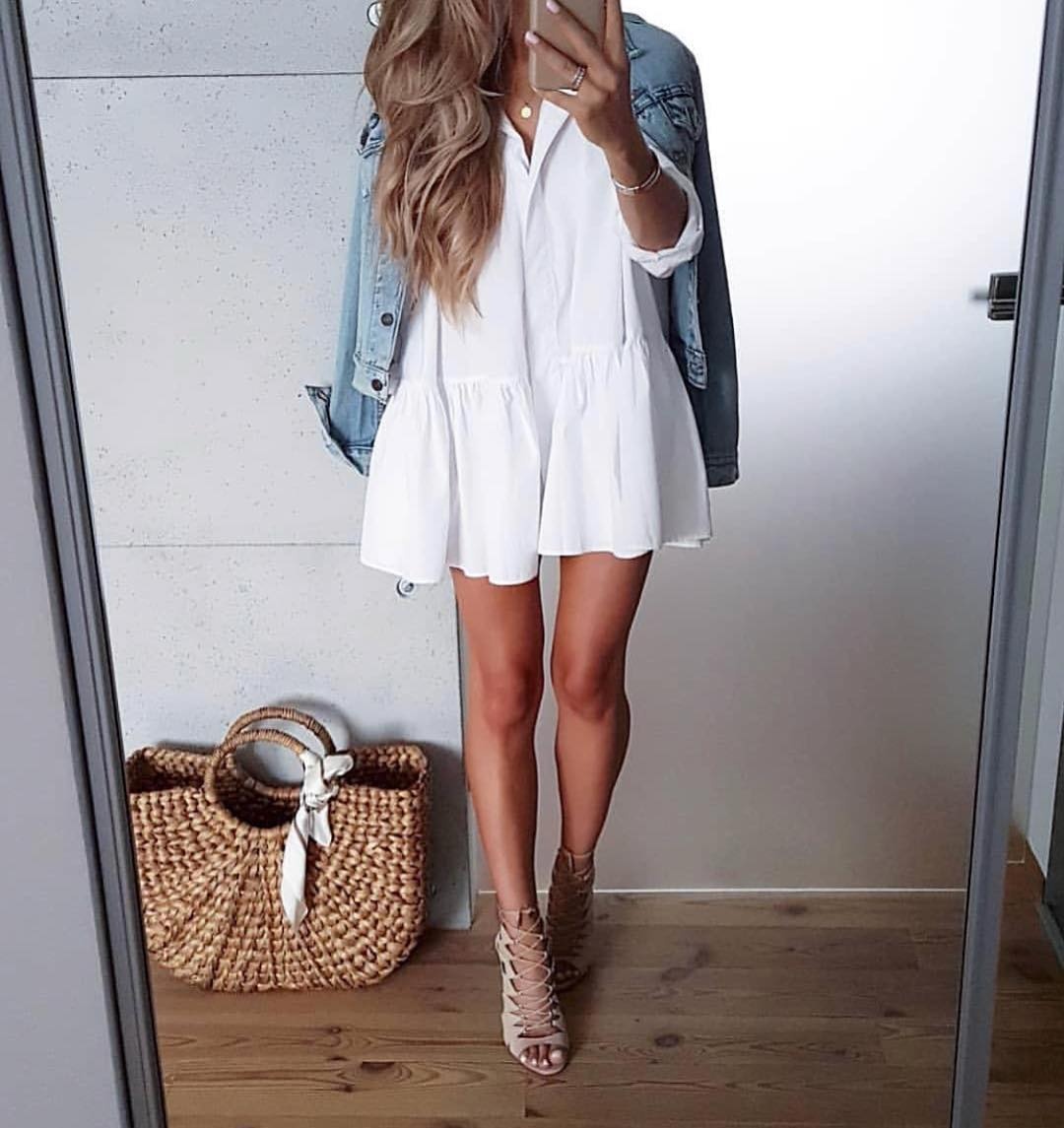 Can I Wear White Dress With Denim Jacket This Summer 2021