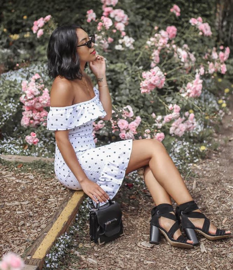 Peplum Off-Shoulder Dress In White For Summer 2019